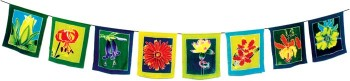 flower prayer flag